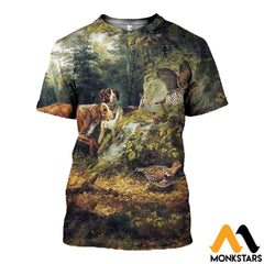 3D All Over Printed Dog Hunting & Grouse Shirts And Shorts T-Shirt / Xs Clothes