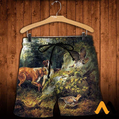 3D All Over Printed Dog Hunting & Grouse Shirts And Shorts / Xs Clothes
