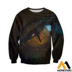 3D All Over Printed Dragon Eye Shirts And Shorts Long-Sleeved Shirt / Xs Clothes