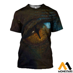 3D All Over Printed Dragon Eye Shirts And Shorts T-Shirt / Xs Clothes
