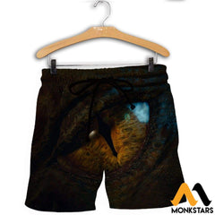 3D All Over Printed Dragon Eye Shirts And Shorts / Xs Clothes