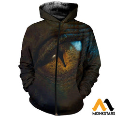 3D All Over Printed Dragon Eye Shirts And Shorts Zipped Hoodie / Xs Clothes