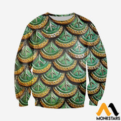 3D All Over Printed Dragon Scale Clothes Long-Sleeved Shirt / Xs