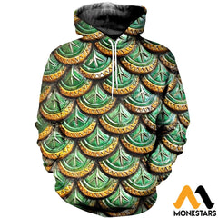 3D All Over Printed Dragon Scale Clothes Normal Hoodie / Xs