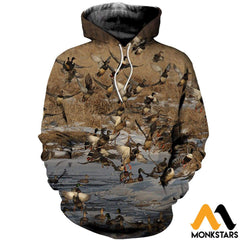 3D All Over Printed Duck Fly Shirts And Shorts Normal Hoodie / Xs Clothes