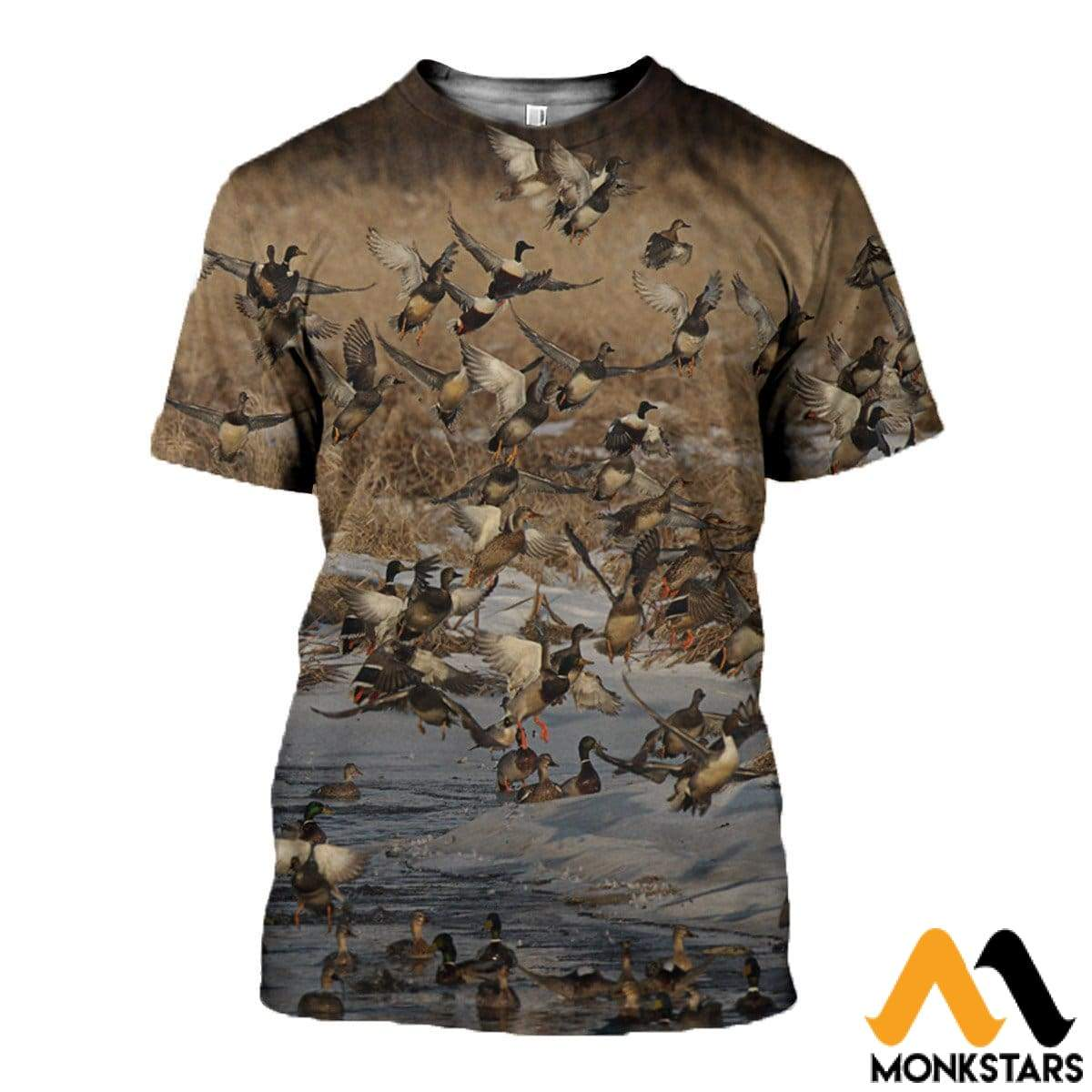 3D All Over Printed Duck Fly Shirts And Shorts T-Shirt / Xs Clothes