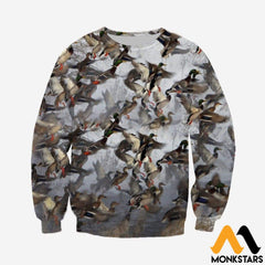 3D All Over Printed Duck Hunting Shirts And Shorts Long-Sleeved Shirt / Xs Clothes