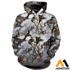 3D All Over Printed Duck Hunting Shirts And Shorts Normal Hoodie / Xs Clothes