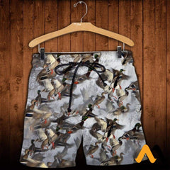 3D All Over Printed Duck Hunting Shirts And Shorts / Xs Clothes