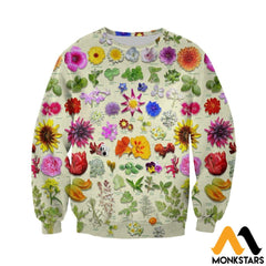 3D All Over Printed Edible Flower Garden Shirts And Shorts Long-Sleeved Shirt / Xs Clothes