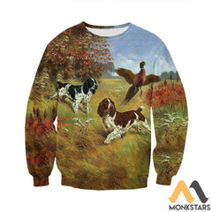3D All Over Printed English Springer Spaniels Shirts And Shorts Long-Sleeved Shirt / S Clothes