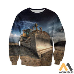 3D All Over Printed Excavator Clothes Long-Sleeved Shirt / S