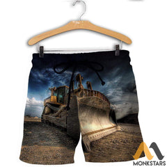 3D All Over Printed Excavator Clothes Shorts / S