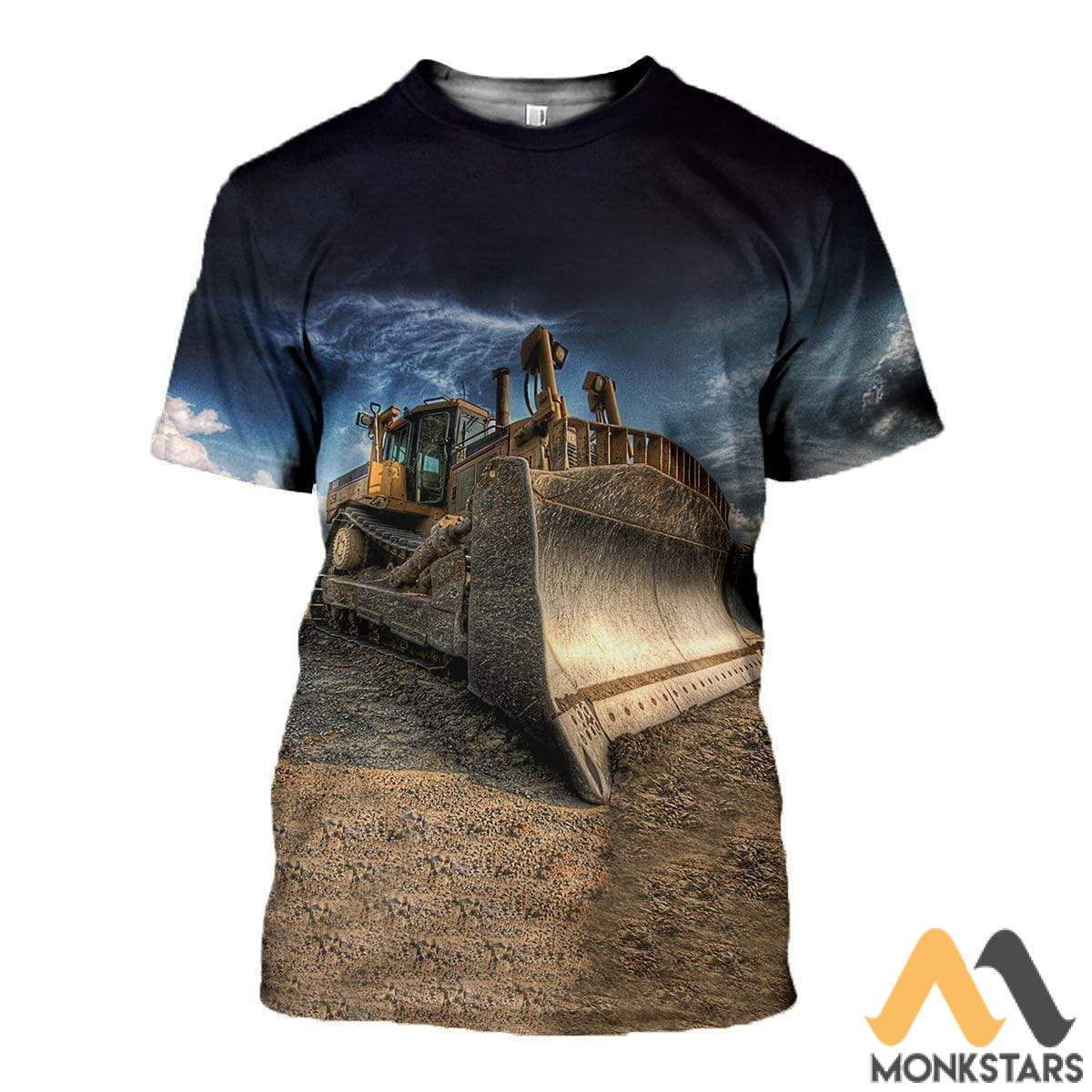 3D All Over Printed Excavator Clothes T-Shirt / S