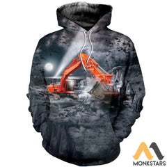 3D All Over Printed Excavator Shirts And Shorts Normal Hoodie / S Clothes