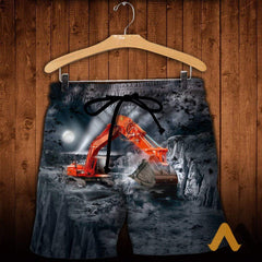 3D All Over Printed Excavator Shirts And Shorts / S Clothes