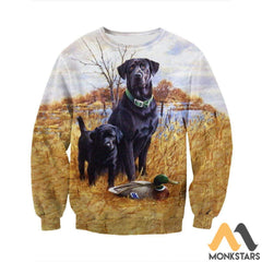 3D All Over Printed Family Dog Hunting Shirts And Shorts Long-Sleeved Shirt / S Clothes