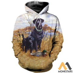 3D All Over Printed Family Dog Hunting Shirts And Shorts Normal Hoodie / S Clothes