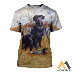 3D All Over Printed Family Dog Hunting Shirts And Shorts T-Shirt / S Clothes