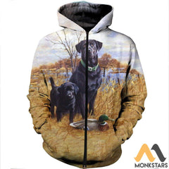 3D All Over Printed Family Dog Hunting Shirts And Shorts Zipped Hoodie / S Clothes
