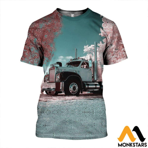 3D All Over Printed Flower Truck Shirts And Shorts T-Shirt / Xs Clothes
