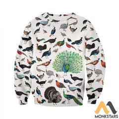 3D All Over Printed Galliformes Shirts And Shorts Long-Sleeved Shirt / S Clothes