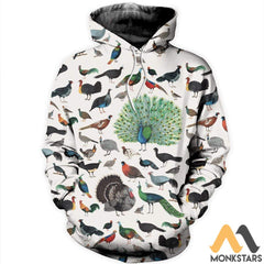 3D All Over Printed Galliformes Shirts And Shorts Normal Hoodie / S Clothes