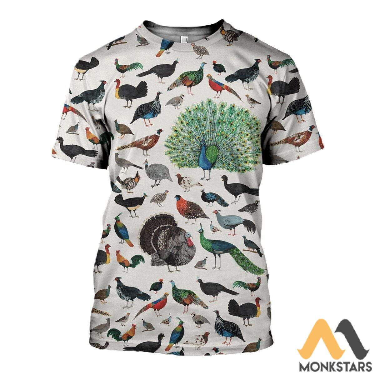 3D All Over Printed Galliformes Shirts And Shorts T-Shirt / S Clothes