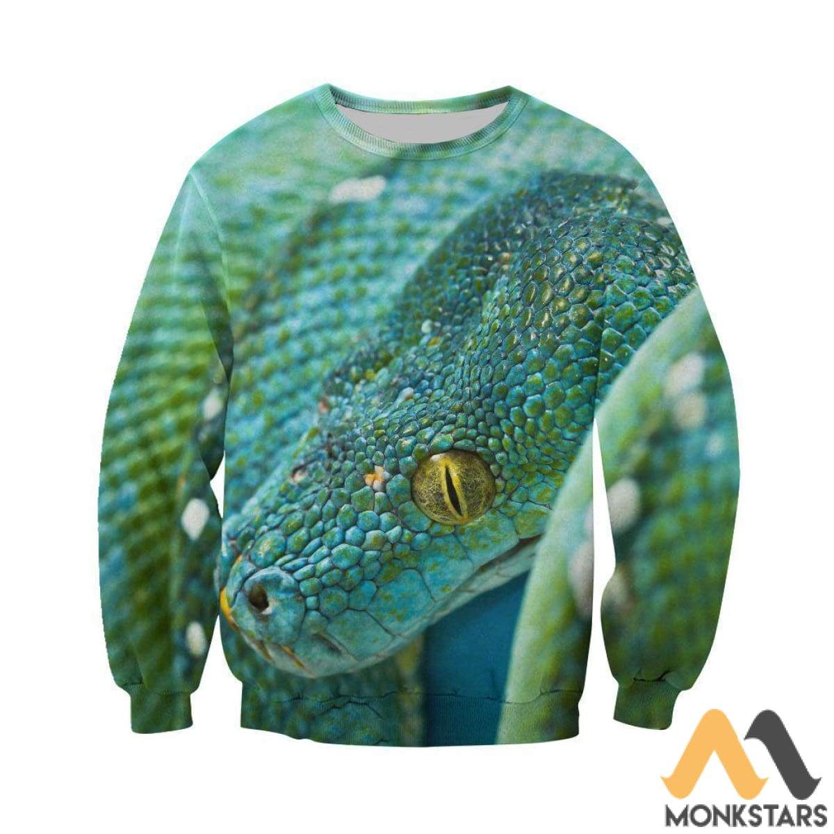 9fe3a9ab3a59 3D All Over Printed Green Snake Art Shirts and Shorts - Monkstars Inc.