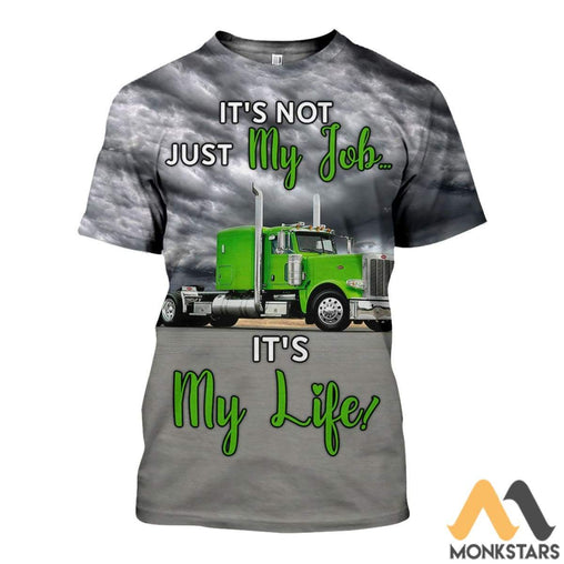 3D All Over Printed Green Truck Shirts And Shorts T-Shirt / Xs Clothes