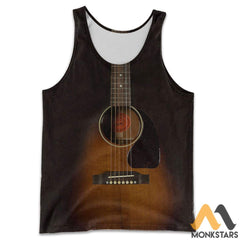 3D All Over Printed Guitar Art Shirts And Shorts Tank Top / S Clothes