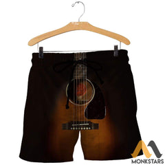 3D All Over Printed Guitar Art Shirts And Shorts / Xs Clothes