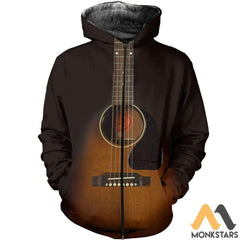 3D All Over Printed Guitar Art Shirts And Shorts Zipped Hoodie / Xs Clothes
