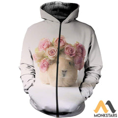 3D All Over Printed Gunie Tops Zipped Hoodie / S Clothes