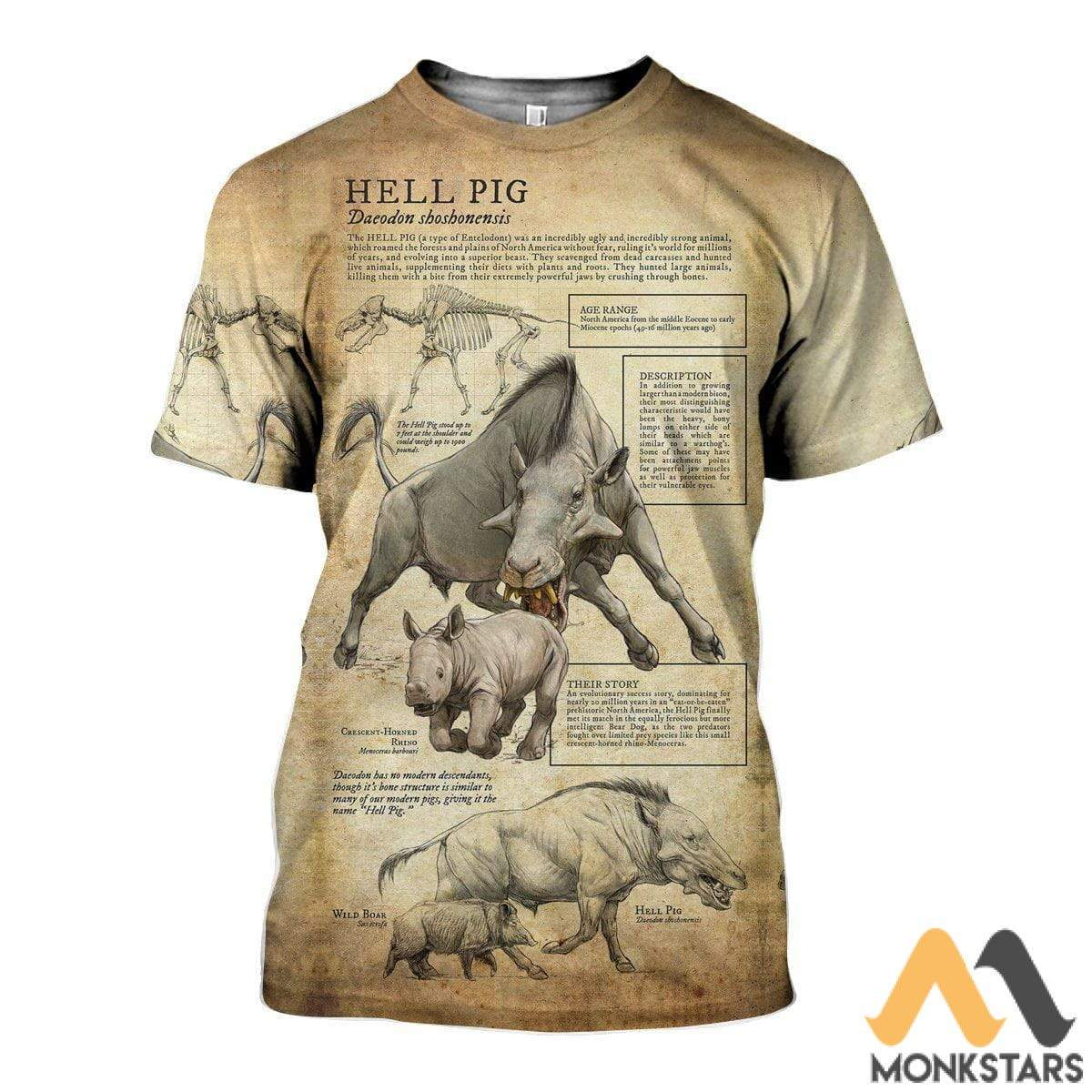55f465c0abe2 3D All Over Printed Hell Pig Shirts And Shorts Saal110904 T-Shirt   S  Clothes