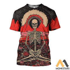 3D All Over Printed Hippie Shirts And Shorts T-Shirt / S Clothes
