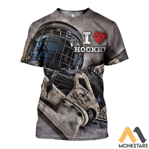 3D All Over Printed Hockey Shirts And Shorts T-Shirt / Xs Clothes
