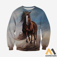 3D All Over Printed Horse Clothes Long-Sleeved Shirt / S