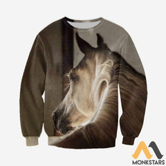 3D All Over Printed Horse Collection Shirts And Shorts Long-Sleeved Shirt / S Clothes