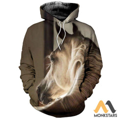 3D All Over Printed Horse Collection Shirts And Shorts Normal Hoodie / S Clothes