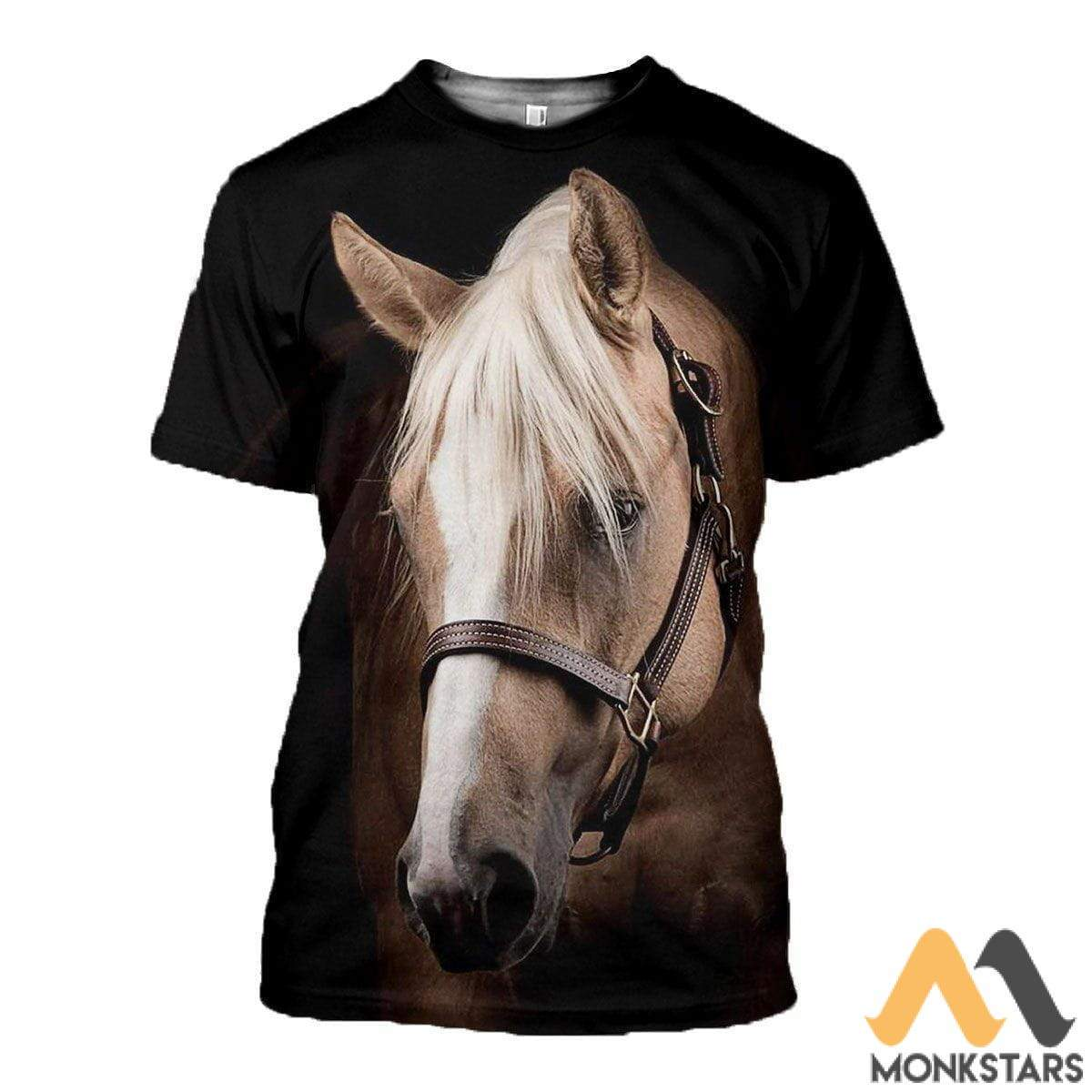 3D All Over Printed Horse Collection Shirts And Shorts T-Shirt / S Clothes