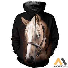 3D All Over Printed Horse Collection Shirts And Shorts Zipped Hoodie / S Clothes