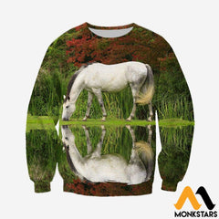 3D All Over Printed Horse Shirts And Shorts Long-Sleeved Shirt / Xs Clothes