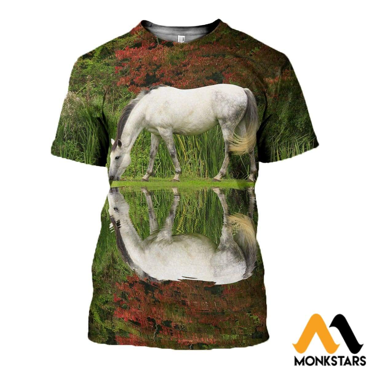 3D All Over Printed Horse Shirts And Shorts T-Shirt / Xs Clothes