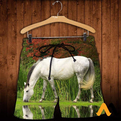 3D All Over Printed Horse Shirts And Shorts / Xs Clothes