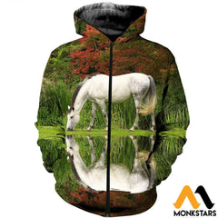 3D All Over Printed Horse Shirts And Shorts Zipped Hoodie / Xs Clothes