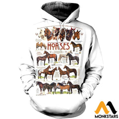 3D All Over Printed Horses Collection Shirts And Shorts Normal Hoodie / Xs Clothes
