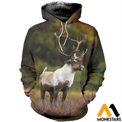 3D All Over Printed Huge Reindeer Clothes Normal Hoodie / Xs