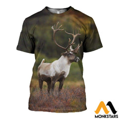 3D All Over Printed Huge Reindeer Clothes T-Shirt / Xs