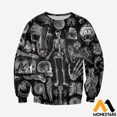 3D All Over Printed Human Anatomy Shirts And Shorts Long-Sleeved Shirt / Xs Clothes